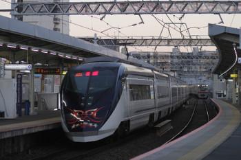 2017年1月1日 16時32分頃、千住大橋、「シティライナー(成田山開運号)」だったAE8編成の下り回送列車。