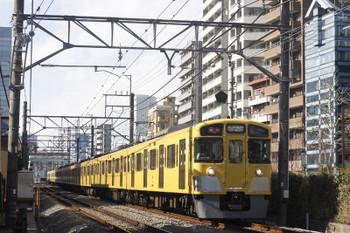 2017年1月30日、高田馬場~下落合、(<-新宿)2095F;2411Fの2332レ。