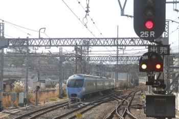 2017年1月4日 10時55分頃、小田原、残された60000形4両は電留線に入りました。