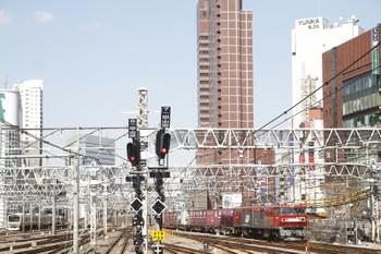 2017年2月25日、新宿、EH500-52牽引の3086レ。