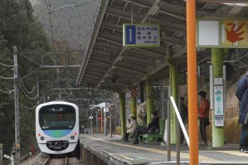 2017年1月29日 9時55分頃、西吾野、発車した38111Fの下り回送列車。