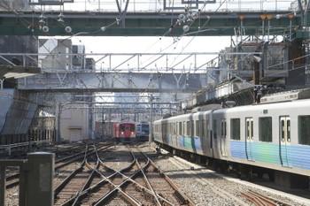 2017年3月11日、池袋、椎名町方の電留線で寝る6157Fと9101Fの3114レ。7番ホーム方の電留線で寝ているのは30101F。