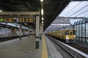 2017年3月11日 6時11分頃、練馬、2079Fの上り回送列車。