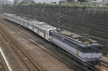 2017年7月8日、新秋津、EF65-2091に牽引され多摩川線へ向かう1245F。