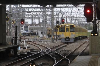 2017年6月18日 5時30分ころ、所沢、右が2049Fの新宿線・上り回送列車。