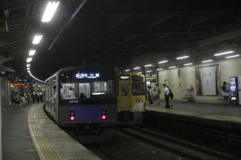2017年8月5日 20時48分頃、狭山市、西武球場前駅から到着した20156Fの臨時・本川越ゆき。