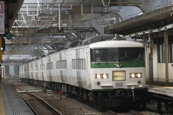 2017年9月8日 7時28分ころ、西大井、185系の「おはようライナー新宿22号」。