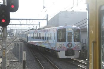 2016年11月5日 8時29分ころ、飯能、1番ホーム横の線路へ入る4009Fの上り回送列車。