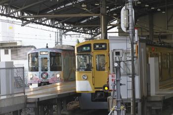 2017年10月9日 7時48分ころ、池袋、7番ホームから発車した4009Fの臨時列車。趣旨からすると「団体(臨時)」列車?