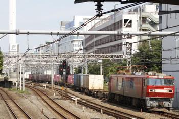 2017年10月9日 12時0分ころ、池袋~目白、EH500-27牽引のコンテナ貨物列車。