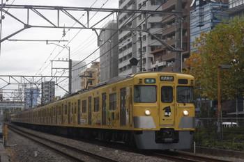 2017年11月20日、高田馬場〜下落合、2007F+2451Fの4608レ。