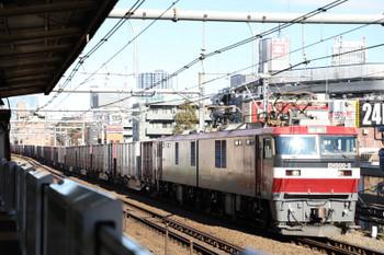2017年12月17日 12時0分ころ、高田馬場、EH500-5牽引の3086レ。