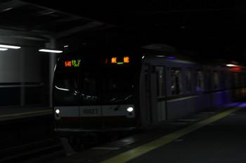 2017年12月26日、西所沢、メトロ10027Fの3705レ(54K運用)。