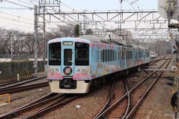2017年12月24日 11時28分ころ、萩山、西武遊園地駅へ発車した4009Fの下り列車。