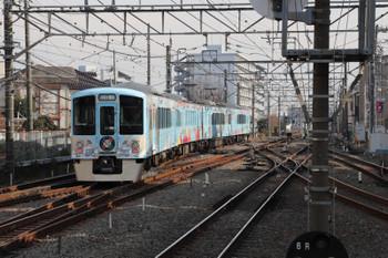 2017年12月24日 13時8分ころ、小平、3番ホームから新宿方へ向かう4009F。