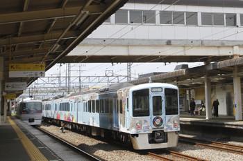 2017年4月15日 12時6分ころ、仏子、中線で下り特急を待避する4009Fの下り列車。