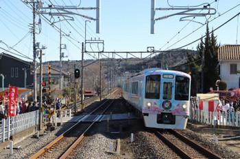 2018年1月14日 12時10分ころ、元加治、4009Fの下り列車。
