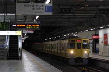 2018年1月16日 5時30分ころ、所沢、2027Fの上り回送列車。