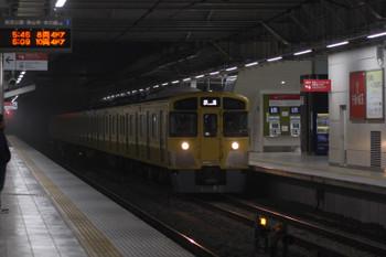 2018年1月18日 5時30分ころ、所沢、2番ホームを通過する2045Fの上り回送列車。