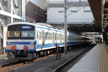 2018年1月21日、所沢、1249Fの甲種輸送列車とメトロ10023Fの6521レ。