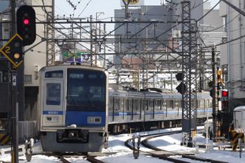 2018年1月23日 12時8分ころ、高田馬場~下落合、6101Fの急行 西武新宿ゆき。