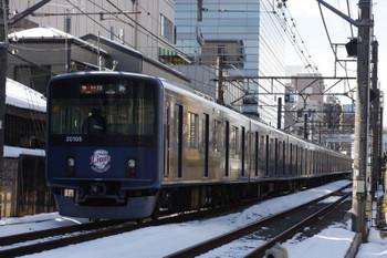 2018年1月26日、高田馬場~下落合、20105Fの2323レ。