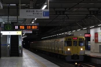 2018年2月6日 5時30分、所沢、2021Fの新宿線 上り回送列車。