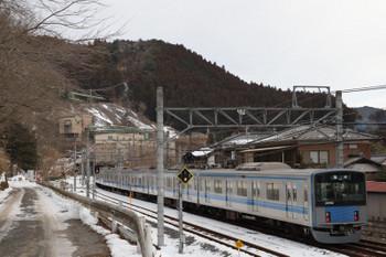 2018年1月28日 8時7分ころ、吾野、2番ホームから発車した西吾野ゆきの1本目の臨時列車の20152F。吾野駅での行き違いはなしでした。