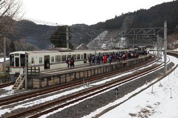 2018年1月28日、吾野、駅伝関係者が多く下車した4013F+4011Fの1001レ。