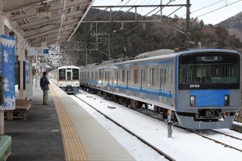 2018年1月28日、芦ケ久保、(<-飯能)4017F+4015Fの5022レと20153Fの回送列車。