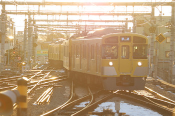 2018年1月28日 7時13分ころ、飯能、秩父方から1番ホームへ到着する2079Fの上り回送列車。