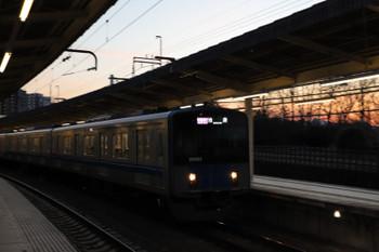 2018年2月18日、入間市、発車した20152Fの1002レ。