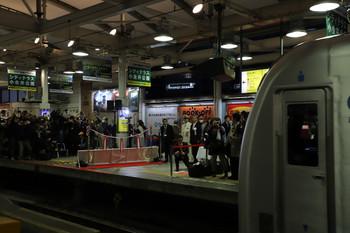 2018年3月10日 18時4分ころ、西武新宿、「拝島ライナー」初列車となる40106Fが回送で到着。記念式典が開催されていました。