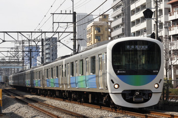 2018年2月27日、高田馬場〜下落合、5128レの38115F。同上。