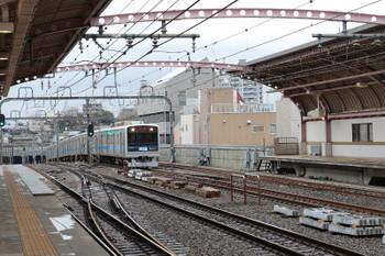 2018年3月9日 11時28分、梅ヶ丘、急行線を走る3000形6連の下り回送列車。