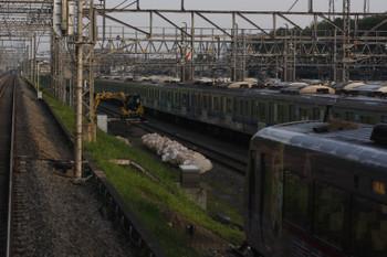 2018年5月16日、小手指車両基地、上り列車の車内から。