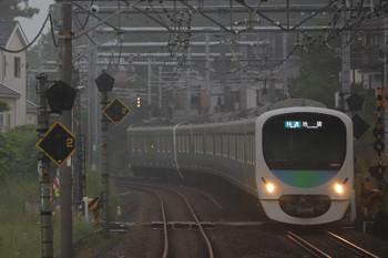 2018年5月19日、元加治、38111F+32102Fの3102レ。一番電車。