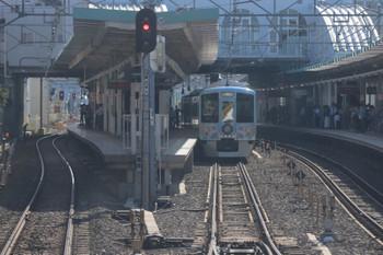 2018年5月20日 16時14分ころ、保谷、2番ホームに停車中の4009Fの上り回送列車。