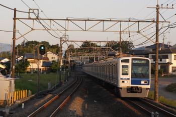 2018年5月22日、元加治、6108Fの3102レ。一番電車。6000系はこの列車には珍しいです。