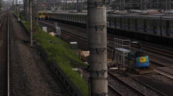 2018年6月19日 5時20分ころ、小手指車両基地、上り列車から見た2番線の工事現場の様子。