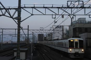 2017年9月10日 17時50分ころ、練馬、急行線へ入った4023F+4001Fの下り回送列車。