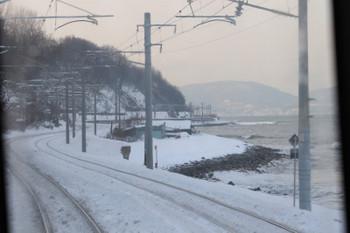 2017年12月10日 14時18分ころ、銭函〜朝里、海沿いの車窓。