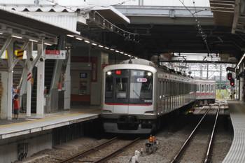 2017年9月24日 16時17分、所沢、4番ホームへ到着する東急5154Fの06S運用・上り回送列車。