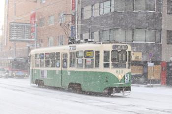 2017年12月12日 8時3分ころ、函館駅前、812の末広町ゆき。