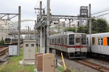 2018年8月12日、川越、東上線のホームから。