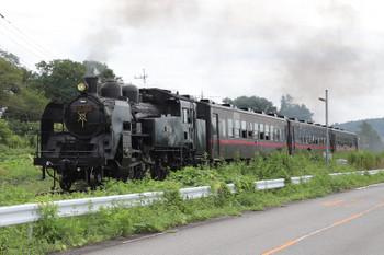 2018年9月2日 11時55分ころ、市塙~笹原田、茂木ゆきのSL列車。