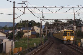 2018年10月1日 6時3分ころ、元加治、9102Fの快速 池袋ゆき。この日の一番電車。