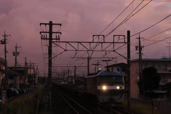 2018年9月9日 5時15分ころ、安倍川、EF210-148牽引の下り貨物列車。