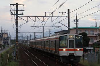2018年9月9日 5時31分ころ、安倍川、311系4連の普通 岐阜ゆき。