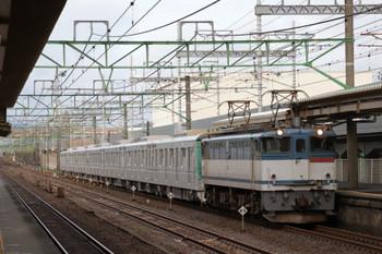 2018年9月9日 6時17分ころ、草薙、東京メトロ13123Fを牽引するEF65-2076。